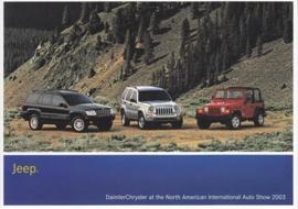 Jeep program, A6-size postcard, NAIAS 2003