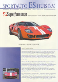 Superformance SPF GT MK I & Mk II leaflet, 2 pages, about 1996, English language