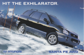 Santa Fe AWD, DIN A6-size postcard, Australian freecard by Avant card, 2001, # 5841