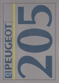 205 brochure, 34 pages, A4-size, 1992, German language