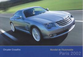 Chrysler Crossfire, A6-size postcard, Paris 2002