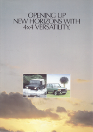 Program 90/110/Range Rover brochure, 8 pages, 01/1987, English language