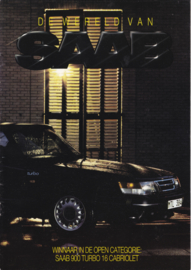 World of Saab brochure, 16 pages, 1987, Dutch language