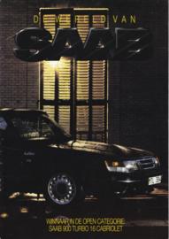 World of Saab brochure, 16 pages, 1987, Dutch language