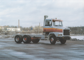 Sisu SR (6x2) truck leaflet, 2 pages, A4-size, 1983, Russian language