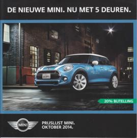 5-Door models pricelist brochure, 24 pages, Dutch language, 09/2014 %