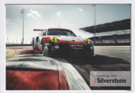 911 RSR sportscar factory issued postcard,  DIN A6-size, English