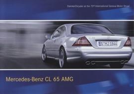 Mercedes-Benz CL 65 AMG, A6-size postcard, Geneva 2003