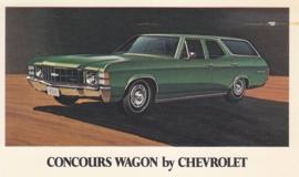 Concours Wagon,  US postcard, standard size, 1970