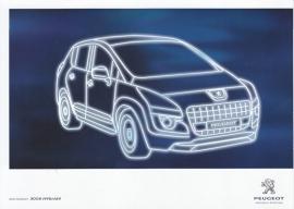3008 Hybrid4, A5-size postcard, France, 2011 (Peugeot Avenue Paris)