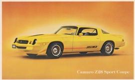 Camaro Z28 Sport Coupe, US postcard, standard size, 1979