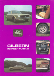 Gilbern Invader Mark III leaflet, 2 pages, about 1974, Dutch language