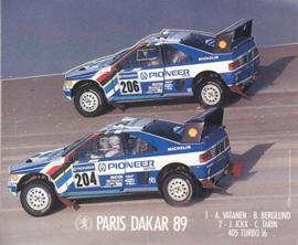 Peugeot Paris-Dakar 1989, sticker, 13 x 11 cm