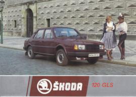120 GLS Sedan leaflet, 2 pages, Dutch language, about 1985, Belgium