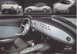 F-Type concept, large postcard, 16 x 11 cm, Turin motorshow 2000