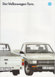 Taro Pick-up brochure, 12 pages,  A4-size, German language, 2/1989