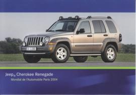 Jeep Cherokee Renegade, A6-size postcard, Paris 2004
