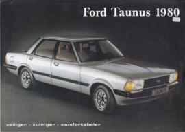 Taunus leaflet brochure, 2 pages, 1980, Dutch language