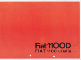 1100 D /Urania Sedan brochure, 8 pages, 12/1962, Dutch language