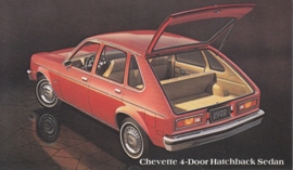 Chevette 4-Door Hatchback Sedan, US postcard, standard size, 1978