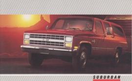 Suburban,  US postcard, large size, 19 x 11,75 cm, 1988