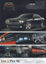 Challenger Coupe 425 hp, 2 page colour sheet (A4), German dealer, 2009