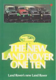 Program One-Ten brochure, 6 pages, about 1993, Dutch language