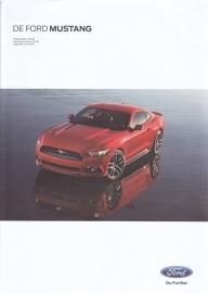 Mustang European pricelist, 4 pages, 06/2015, Dutch language