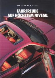 850 Ci Coupe brochure, 8 pages, A4-size, 2/1992, German language