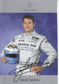 David Saelens - DTM 2001 - auto gram postcard, German