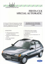 Fiesta CLX Special Automatic leaflet, 2 pages, 01/1990, Dutch language, Belgium