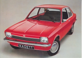 Kadett postcard, DIN A6-size, about 1974, German language