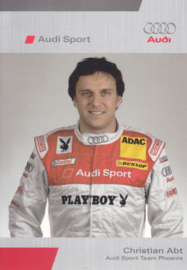 DTM racing driver Christian Abt, unsigned postcard 2006 season, German language