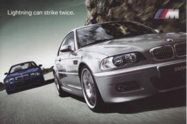 M3 Coupe & Convertible postcard, A6-size, English language, 2005, USA