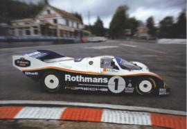 Porsche 962 C 1986, A6-size postcard, factory-museum issue, German