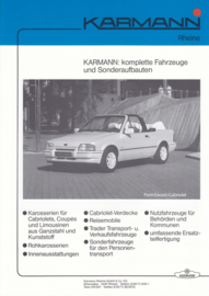 Ford Escort Cabriolet & Merkur by Karmann brochure, 2 pages, about 1987, German language