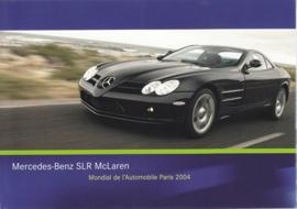 Mercedes-Benz SLR McLaren, A6-size postcard, Paris 2004