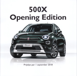 500 X Opening Edition brochure, 20 pages, 09/2018, Dutch language
