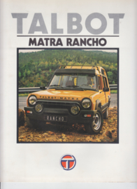Matra Rancho, 4 large square pages, Dutch language, 9/79 (Belgium)