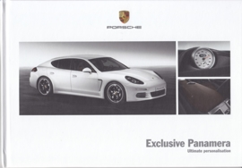 Panamera Exclusive brochure, 60 pages, 01/2014, hard covers, English