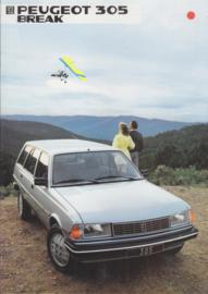 305 Break brochure, 16 pages, A4-size, 1984, Dutch language