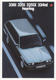 320i/325i/325iX/324td Touring brochure, 34 pages, A4-size, 2/1987, German language