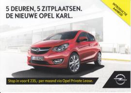 Karl leaflet, 2 pages, DIN A5-size, 2016, Dutch language