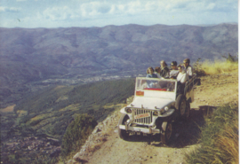 Jeep in mountains, DIN A6-size, unused, Dutch issue, 2008