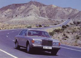 Silver Spirit postcard, DIN A6 size, English text, 1986