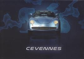 PGO Cevennes brochure, 4 pages, English language