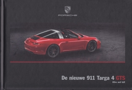 911 Targa 4 GTS brochure, 44 pages, 01/2015, hard covers, Dutch
