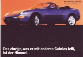 968 Cabriolet postcard, DIN A6 size, factory-issue, about 1993
