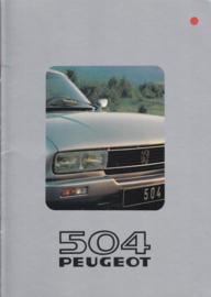 504 Coupé & Cabriolet brochure, 16 pages, A4-size, 1981, German language