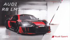 R8 LMS race car, postcard, English language, about 2014